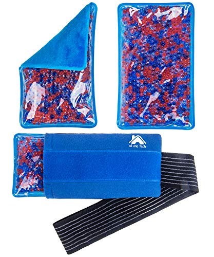 Gel Ice Packs for Injuries- Reusable Hot Cold Gel Bead Ice Pack Rehabilitation Flexible Therapy for Knee, Shoulder, Back, Neck, Ankle & More