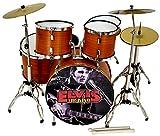 MINIATURA BATER�A ACUSTICA NOGAL SATINADO MDR-0107 ELVIS PRESLEY REGALO MUSICAL ROCKMUSIC