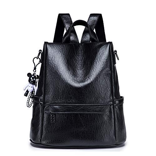 NIYUTA Anti Theft Backpack Women Daypack Ladies Bags Travel Leather Bag Black