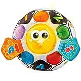 VTech-80-509122, Pelota fútbol bebé Blanda interactiva con más de 45 melodías, Sonidos, Canciones y Frases, favorece la estimulación Sensoria, Multicolor (3480-509122)