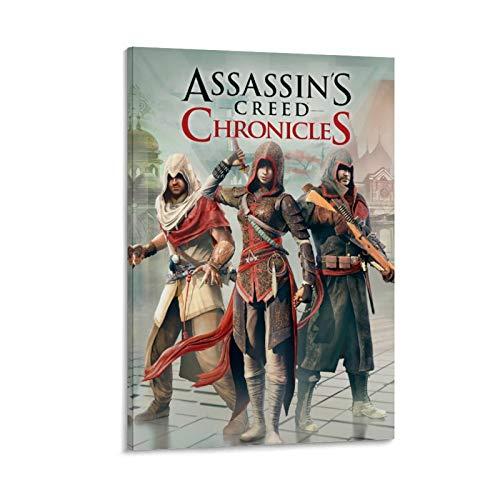 SSKJTC - Poster da parete con citazione 'Assassin's Creed Chronicles', 60 x 90 cm