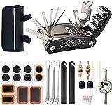 GJWHENS Kit de reparación de Herramientas de Bicicleta, Kit de reparación de pinchazos, Multiherramienta de Bicicleta 16 en 1, Multiherramienta para Bicicleta para MTB,A