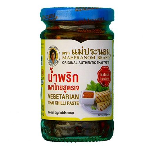 Mae Pranom Brand Vegetarian Thai Chili Paste 114g.