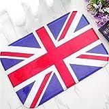 Alfombra de puerta impresa 3D Alfombrilla de cocina de baño con bandera de Union Jack clásica de Inglaterra Bandera británica moderna Alfombra de puerta de Reino Unido Alfombra Alfombras de bandera