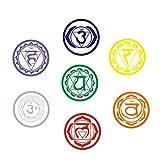 VOSAREA 7 unids Mandala Yoga Meditación Estilo Símbolo Pegatinas de Pared de PVC Arte Tatuajes de Pared para Yoga Studio Decoración del Hogar