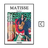 絵マティス音楽抽象油絵画インテリア写真マチスキャンバス壁アートパネルポスターホテルオフィスリビング部屋音楽部屋ホテル装飾写真40x60cm /フレームなし