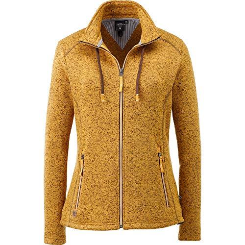 Linea Primero Strickfleecejacke Damen Luverne Women Farbe gelb, Größe 40