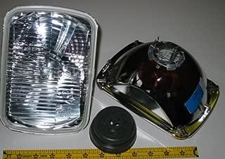 Hella 200mm Rectangular E Code H4 Halogen Replacement Headlight Kit with 100/55W H4 Bulbs