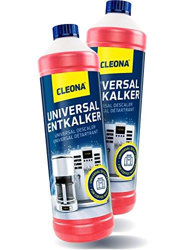 Cleona Entkalker für Kaffeevollautomaten & Kaffeemaschine - 2X 1 Liter mit Farbindikator für sämtlichen Maschinen