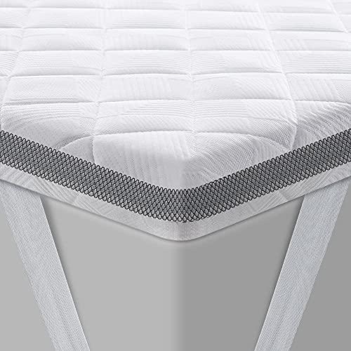 BedStory Topper 180 x 200 cm, Gel Topper mit Kaltschaumkern und Abnehmbarer Waschbarer Bezug, 7.5 cm Höhe Atmungsaktive und Bequeme Matratzentopper für Boxspringbett und Unbequemem Betten Schlafsofa