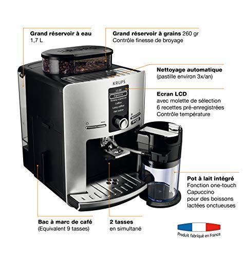 KRUPS ESPRESSERIA LATT ESPRESS SILVER Machine à café à grain Machine à café broyeur...