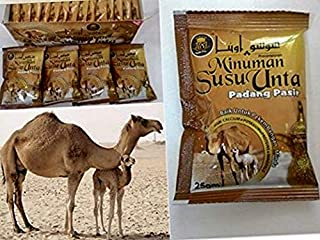 SUSU UNTA Camel milk powder (1box)=(20's) sachets x 25g=(17.64 Oz)=(500 grams)=(176 fl oz) HALAL & KOSHER (USA ORIGIN PROUD COMPANY)