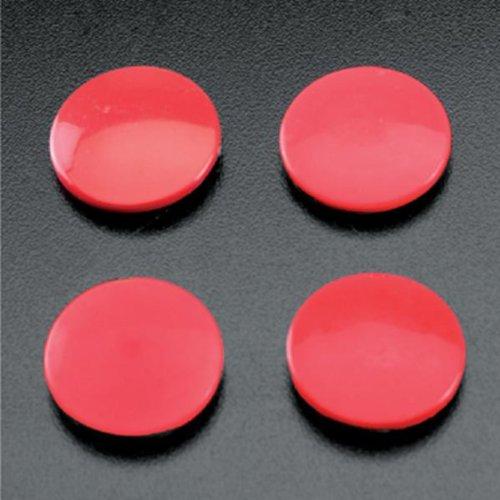 Metalex 295500080 Set de 4 Pièces Magnet Rond Plastique Rouge 12 x 3 x 1 cm