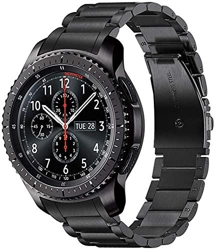 Shieranlee Compatible con Galaxy Watch4 Classic 46mm Correa,22mm Correa de Reloj de Metal de Acero Inoxidable Banda para Samsung Galaxy Watch 46mm, Gear S3 Frontier Classic,Galaxy Watch 3 45mm