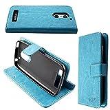 caseroxx Handy Hülle Tasche kompatibel mit Emporia Smart 4 Bookstyle-Hülle Wallet Hülle in hellblau