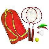LZDseller01 1 Set Badminton Kids Racket Badminton Set, Outdoor Sport Freizeitspielzeug Kids Play Play Toy für Badminton Anfänger Kids