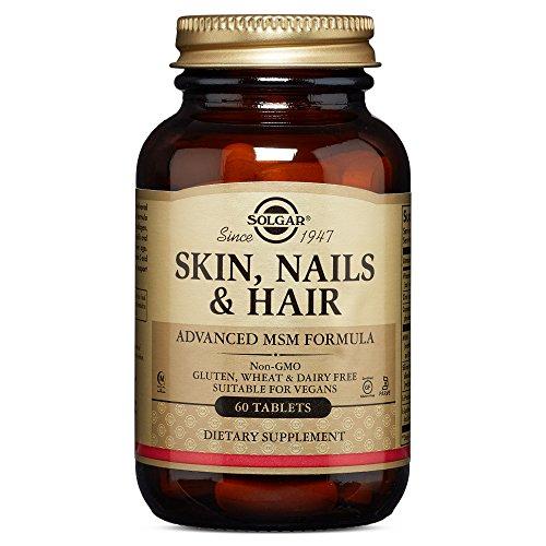 Solgar Comprimidos para Pelo, Piel y Uñas, Contiene Vitamina C para la Formación de Colágeno, Apto para Veganos, 60 Unidades