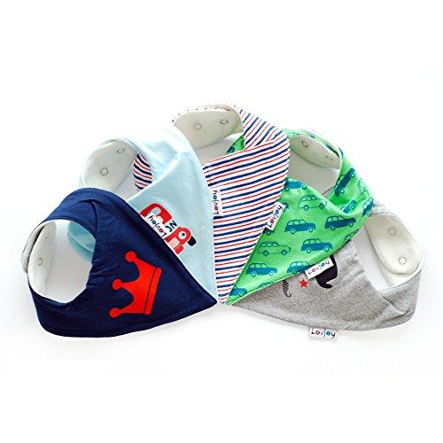 Lovjoy Bandana Baby Halstuch Lätzchen, Dreieckstucher, Für 0-3 Jahre, 5er Pack (Love London)
