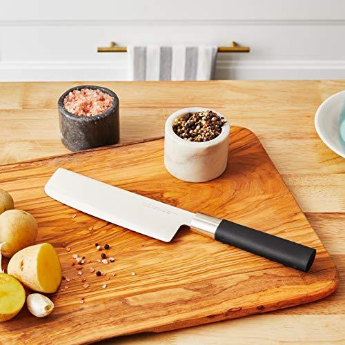 Kai 6716N Wasabi Black Nakiri Knife, 6-1/2-Inch