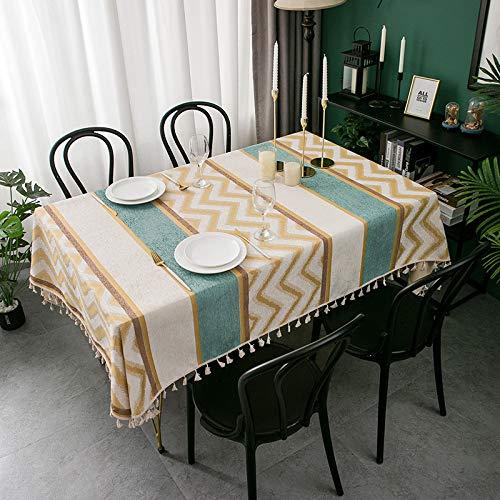 sans_marque Mantel, cubierta de mesa lavable que se puede utilizar para decorar la mesa de la cocina y el buffet de la encimera, y se puede limpiar mantel 130 x 180 cm