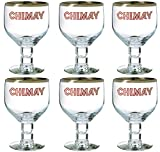 6 VERRES A BIERE CHIMAY 33cl 33 cl NEUF