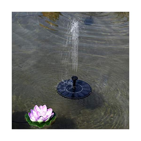 YOHAPPY Bomba de Agua Solar para Fuente de jardín, 1,4 W, Bomba de Agua Solar para pecera, pájaros, Estanque, Piscina…