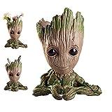 Baby Groot Flower Pot Marvel figura de acción de Guardians of the Galaxy para plantas y plumas Decoración de habitaciones para niños de familia, macetas, regalos para niños (heart flower pot)