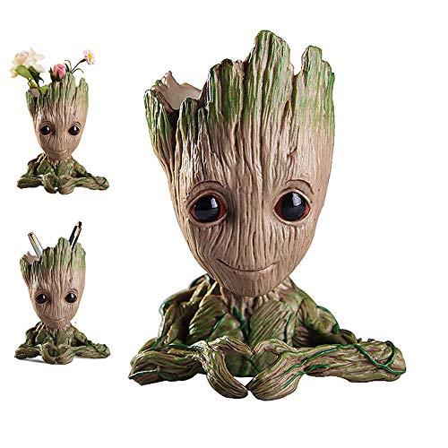 kitchenLS666 Baby Groot Flower Pot Marvel-Actionfigur von Guardians of The Galaxy für Pflanzen und Stifte Raumdekoration für Familienkinder, Blumentöpfe, Kindergeschenke (Heart Flower Pot)