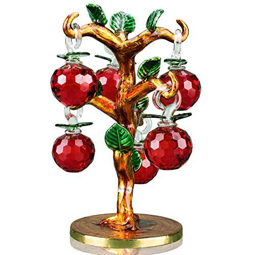 Kristall-Apfelbaum, roter Apfel, Dekoration, dekorativ, künstlicher Glück,...