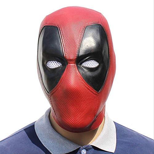 ZhuYiCheng Máscara de Deadpool, película de Halloween Marvel, Capucha de máscara de Deadpool, Accesorios de Baile de graduación