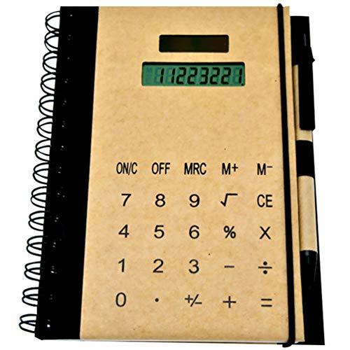 NUOBESTY Taccuino a Spirale Collegio Governato Notebook Multifunzionale Blocchetto per Appunti con Energia Solare Calcolatrice Forniture Aziendali