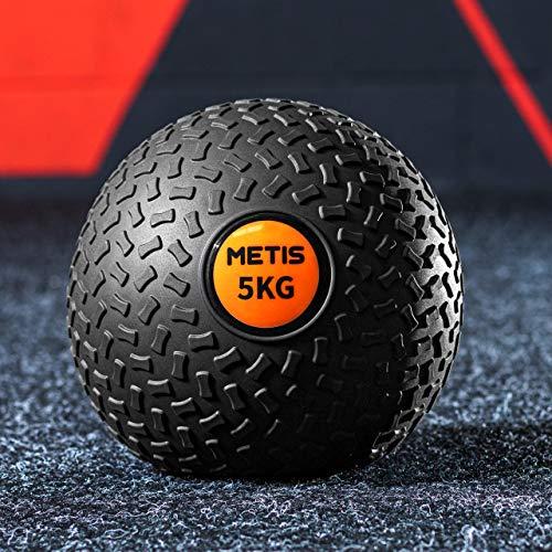 METIS Slam Ball Balones Lastrados 3kg – 20kg | Balones Medicinales de Bajo Rebote para Entrenamiento de Fuerza Central y Musculación | Balón de Fitness para Gimnasio en Casa (3 KG)