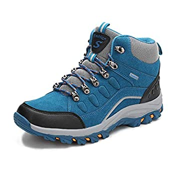 VARSKARC Women s Anti-Slip Lightweight Breathable Hiking Shoes Quick-Dry Trekking Shoes Low-Heeled Sneakers Sapphire