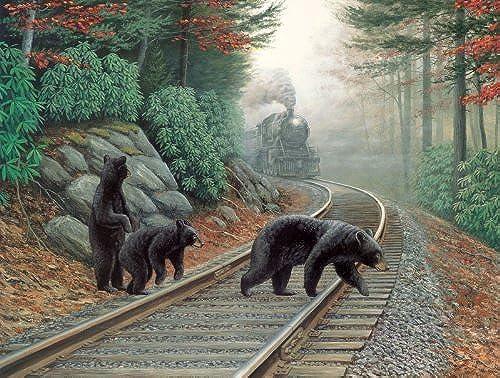 mejor marca Bear Tracks 500pc 500pc 500pc Jigsaw Puzzle by Dan Christ by Sunsout  venta de ofertas