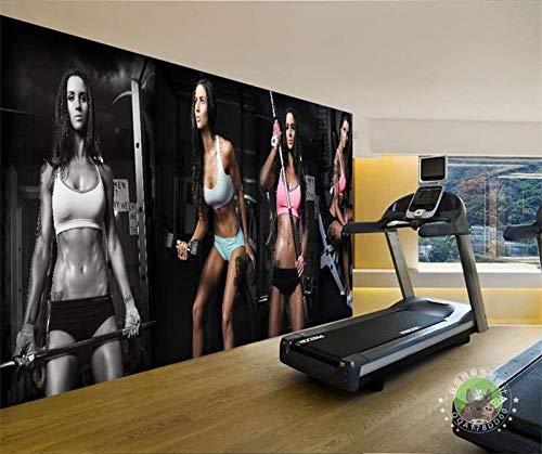 QFAZO Papel tapiz fotográfico 3d personalizada mural no tejido belleza sexy en el gimnasio KTV bar oficina papel tapiz de fondo, 400x280 cm (157,5 por 110,2 pulgadas)