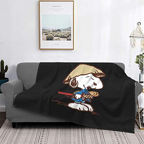 Nicegift Snoopy Warrior Disfraz Manta de Franela sper Suave Que no se desprende no pegajosa Suave y cmoda Manta de sof de 80x60 Pulgada