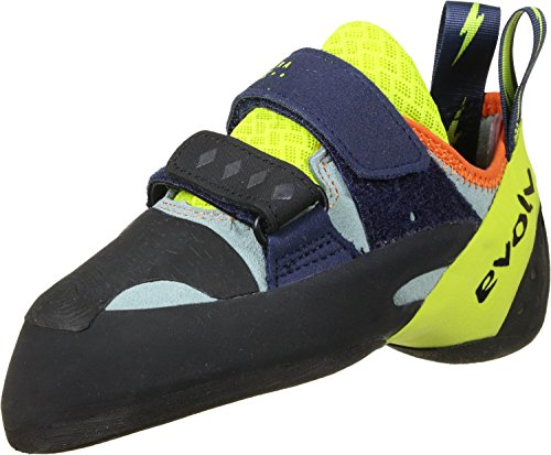 Evolv Shakra Climbing Shoe - Men's Aqua/Neon Yellow 9