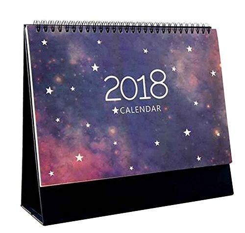Juni 2017 - Dezember 2018 Kalender Büro Desktop Kalender [A]