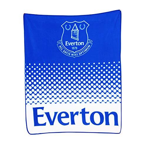 Everton FC Fade Fußball Wappen Design Fleece Decke (Einheitsgröße) (Blau/Weiß)