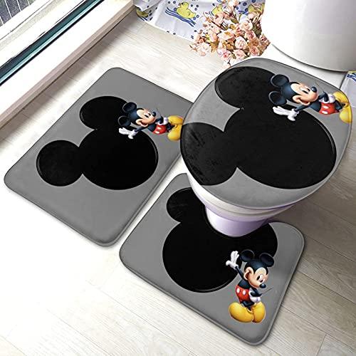Arredo bagno, M-Ickey M-Ouse C-Lubhouse (3) Set di tappetini da bagno Set di 3 tappetini antiscivolo Tappetino da bagno + Contorno + Coperchio per WC Tappetino antiscivolo per bagno1697