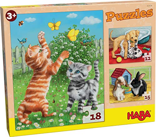 HABA-302638 Puzzle Animales Domésticos Puzle Infantil, Multicolor (302638)