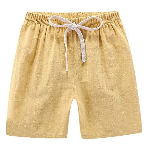 Allence Baby Hosen Kinder Casual Hosen Jungen Baumwolle und Leinen Shorts