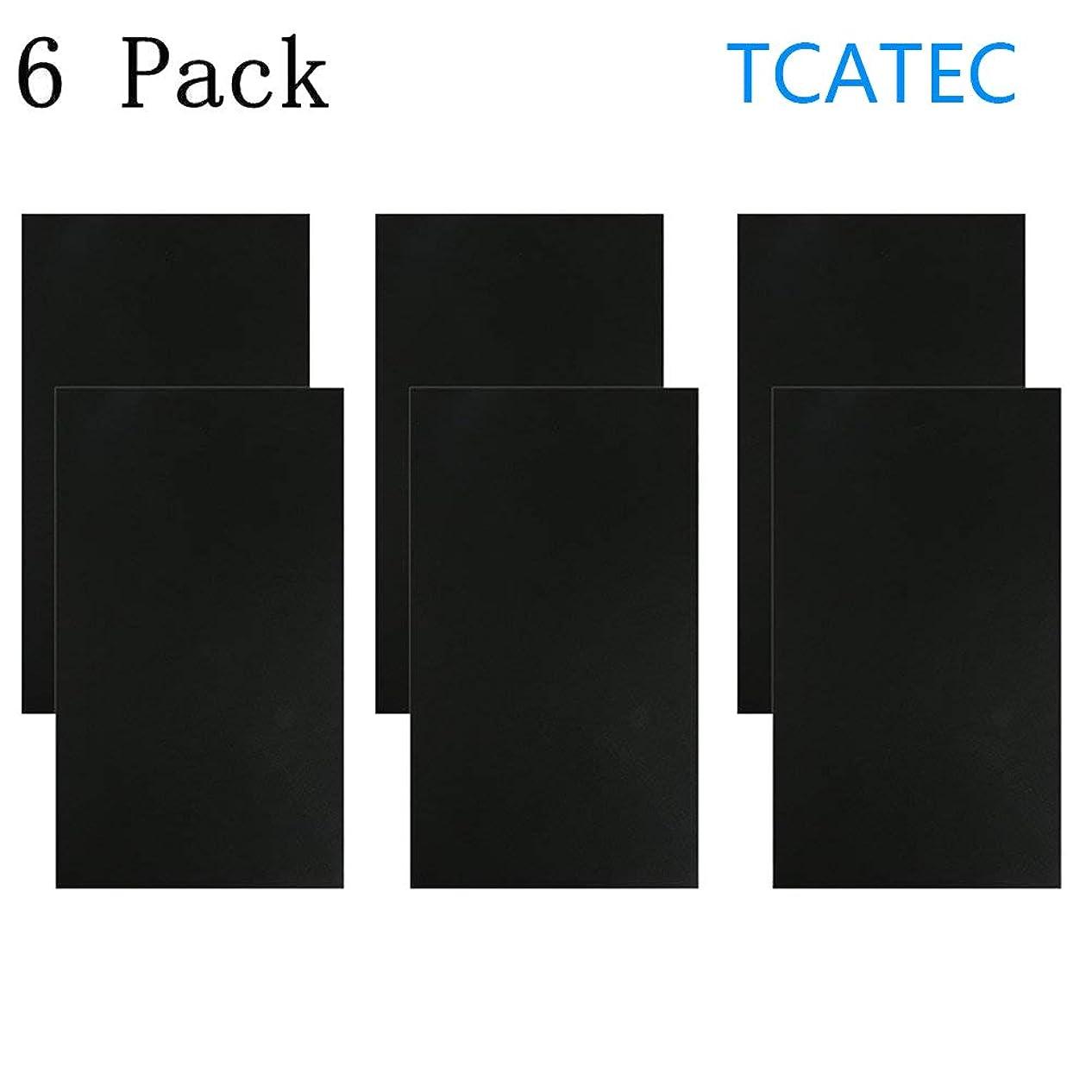 確執細い鎮静剤TCATEC レザーシール 黒 貼るレザー 合皮補修シート 15*25CM 補修テープ 革 家具 ソファ シート 財布 バッグ 修理用 6枚セット