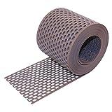 HAUS & DACH Traufgitter PVC braun 150 mm / 5 m Rolle