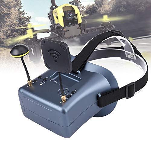 Tonysa FPV Goggles 5.8G Mini FPV Brille, 4.3 Zoll Bildschirm FPV Video Headset Brille mit Eingebauter 7.4V 2000mAh Batterie, 2 Antennen für RC Drone Quadcopters