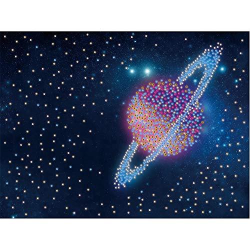 Kits de pintura de diamante para crianças adultas, faça-você-mesmo planeta pintura de diamante 5D (30,48 x 30,48 cm) pintura por número com broca de arte em pedra, kits de pintura de diamante para crianças para decoração de parede de casa