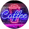 ADVPRO Coffee Cup Home Décor Shop Display Dual Color LED Neon Sign st6-i2361