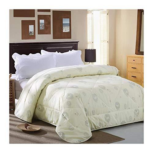 Will Daunenbett Einsatz Decke 200 * 230 Queen König Decken Schafe Vlies warmen Winters 220 * 240 (Color : Cream, Size : 200x230cm 3kg)