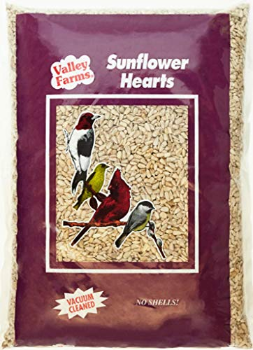 Valley Farms Sunflower Hearts Wild Bird Food - 15 lbs