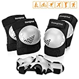 Kids Knee Pad Elbow Pads Guards Protective Gear Set for child Roller Skates Cycling BMX Bike Skateboard Inline Skatings Scooter Riding Sports, Wrist Guards for Multi-sports Outdoor Activities